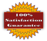 Our products come with a 100% satisfaction guarantee. If you are not satisfied,                          contact us within 20 days and we will refund your purchase.